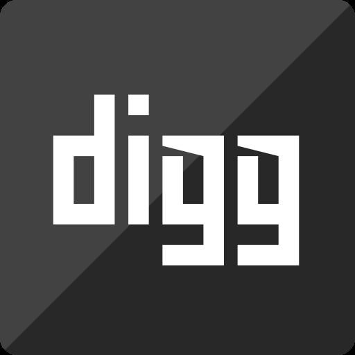 digg, gloss, media, social, square icon