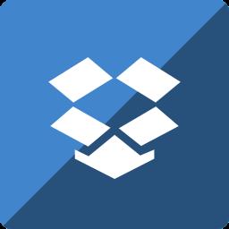 dropbox, gloss, media, social, square icon