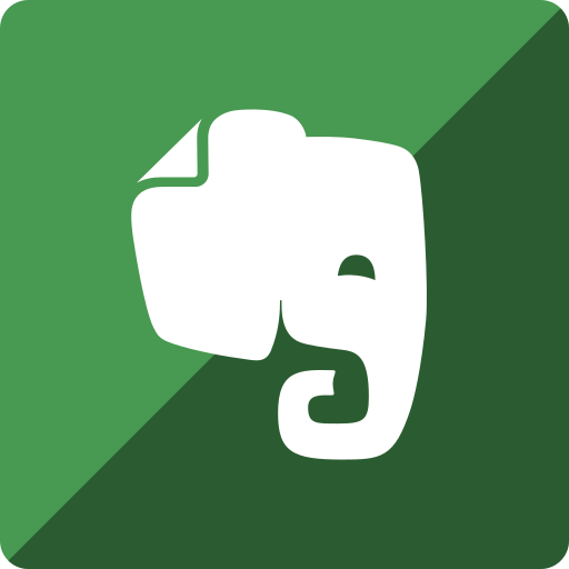 evernote, gloss, media, social, square icon