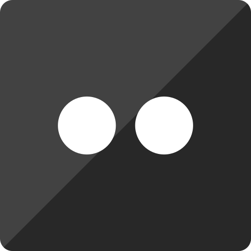 flickr, gloss, media, social, square icon