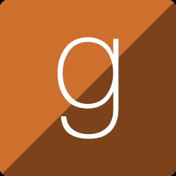 gloss, goodread, media, social, square icon