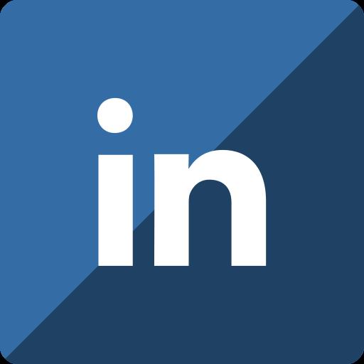 gloss, linkedin, media, social, square icon