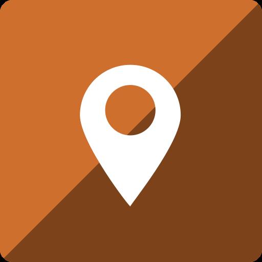 gloss, location, media, social, square icon