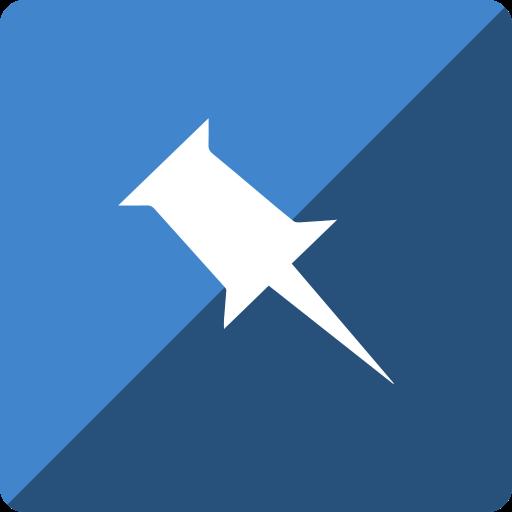 gloss, media, pinboard, social, square icon