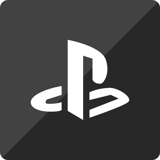gloss, media, playstation, social, square icon