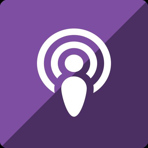 gloss, media, podcast, social, square icon
