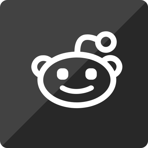 gloss, media, reddit, social, square icon