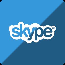 gloss, media, skype, social, square icon