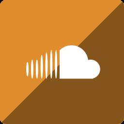 cloud, gloss, media, social, sound, square icon