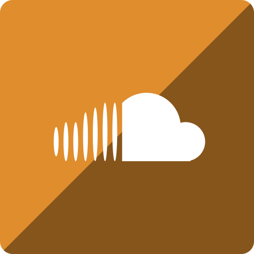 cloud, gloss, media, social, sound, square icon