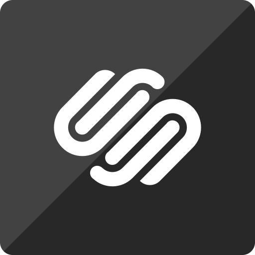 gloss, media, social, square, squarespace icon
