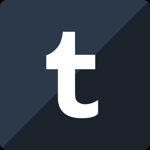 gloss, media, social, square, tumblr icon
