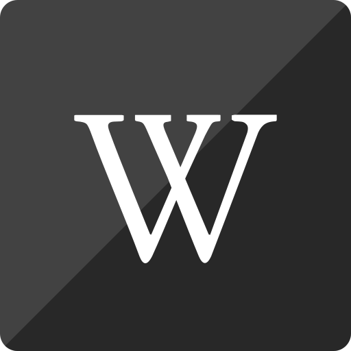gloss, media, social, square, wikipedia icon