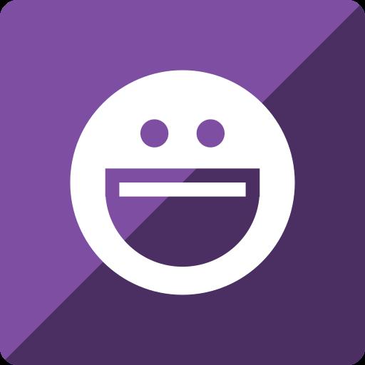 gloss, media, messenger, social, square, yahoo icon