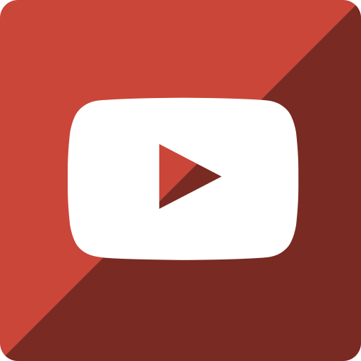gloss, media, social, square, youtube icon