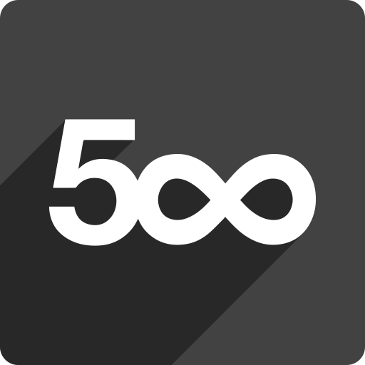 500, media, pixel, shadow, social, square icon