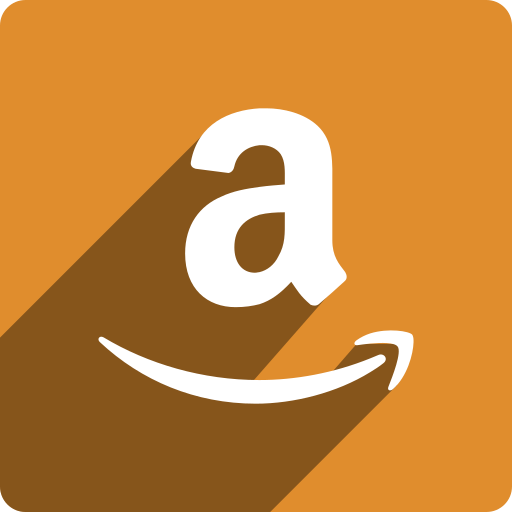 amazon, media, shadow, social, square icon