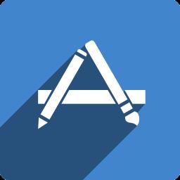 app, media, shadow, social, square, store icon