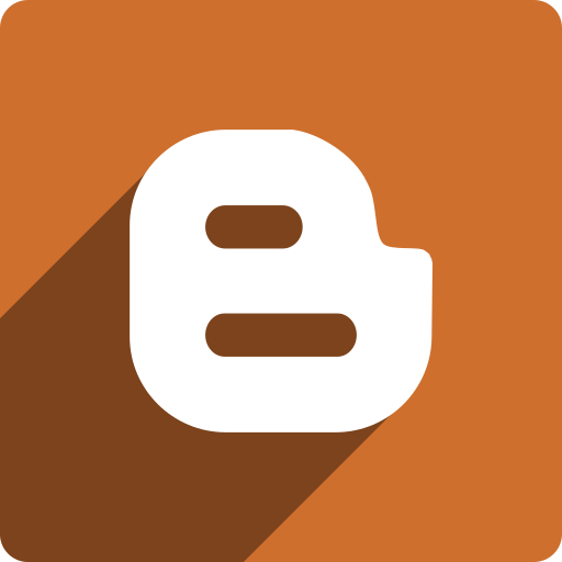 blogger, media, shadow, social, square icon