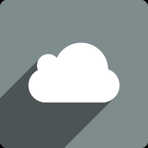 cloud, media, shadow, social, square icon