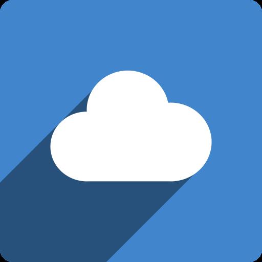 cloudapp, media, shadow, social, square icon