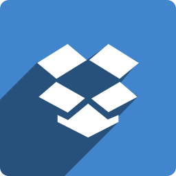 dropbox, media, shadow, social, square icon