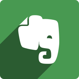 evernote, media, shadow, social, square icon