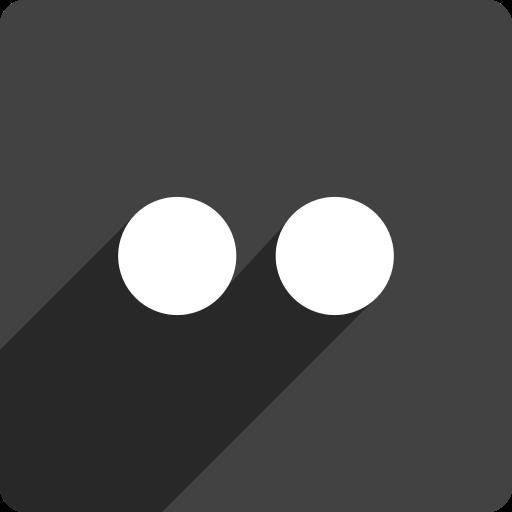 flickr, media, shadow, social, square icon