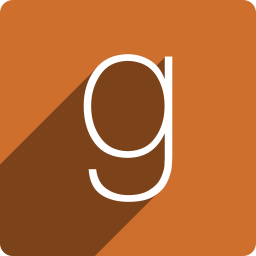 goodread, media, shadow, social, square icon