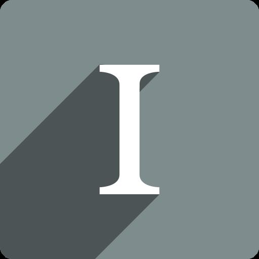 instapaper, media, shadow, social, square icon