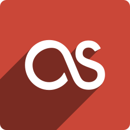 fm, last, media, shadow, social, square icon