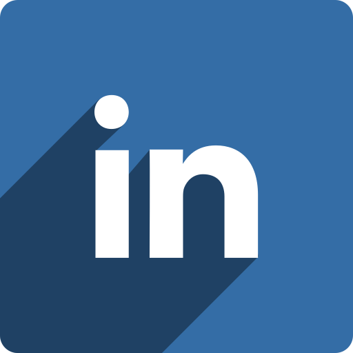 linkedin, media, shadow, social, square icon