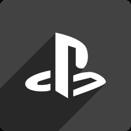 media, playstation, shadow, social, square icon