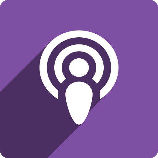media, podcast, shadow, social, square icon