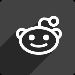 media, reddit, shadow, social, square icon