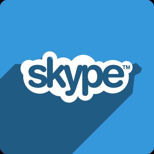 media, shadow, skype, social, square icon