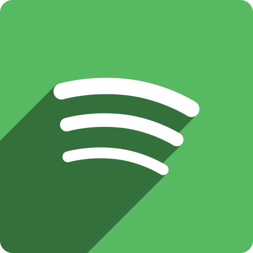 media, shadow, social, spotify, square icon