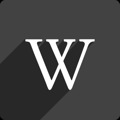 media, shadow, social, square, wikipedia icon