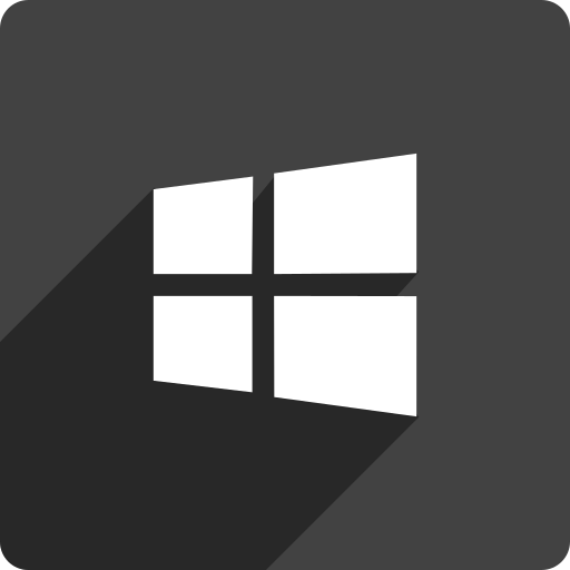 media, shadow, social, square, store, window icon