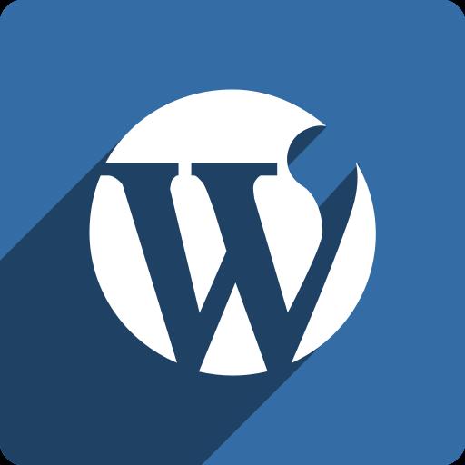media, shadow, social, square, wordpress icon