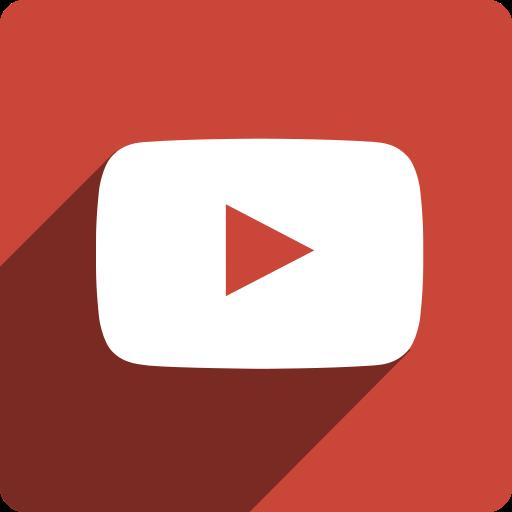 media, shadow, social, square, youtube icon