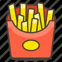 french fries, fries, potato icon