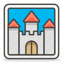 castle, picture, tower icon