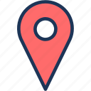 geoposition, map, mark