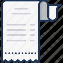 bill, finance, receipt icon