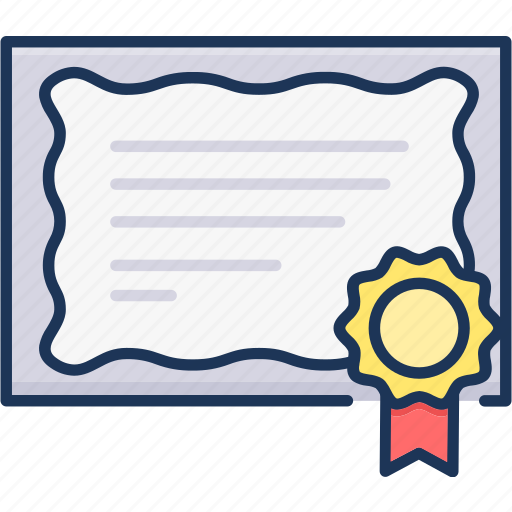 Contract, sertificate, document icon