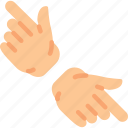 gesture, gesturing, hand, pointing icon