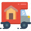 delivery, moving, truck icon