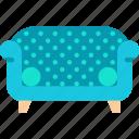 chair, furniture, sofa icon