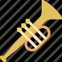 music, sound, trumpet icon